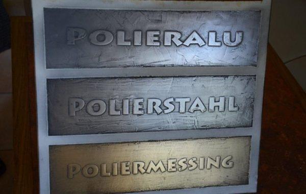 Polierstahl, -Alu und -Messing